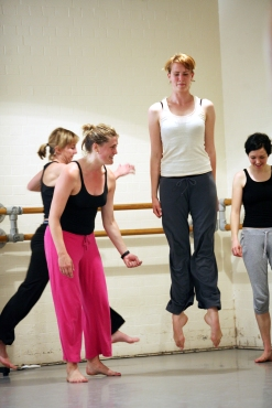 Nicky teaching her adult's Contemporary class at the Central School of Ballet